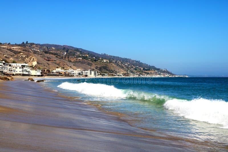 Oceano em Los Angeles pela praia de Veneza, EUA fotos de stock royalty free