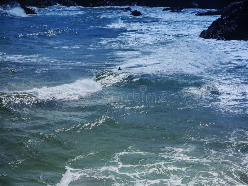 Oceano increspato lunatico immagini stock libere da diritti