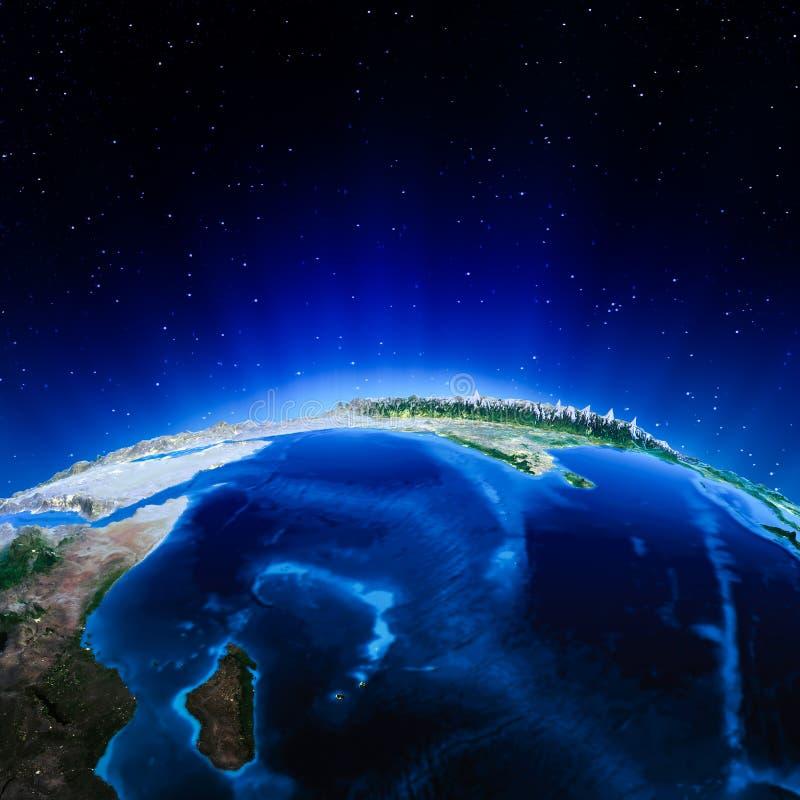 Oceano Indiano illustrazione vettoriale