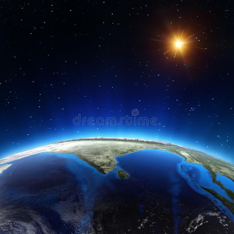 Oceano Indiano da spazio royalty illustrazione gratis