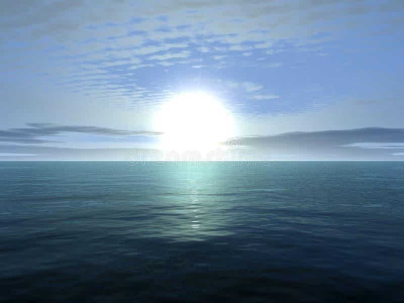 Oceano infinito fotografia stock