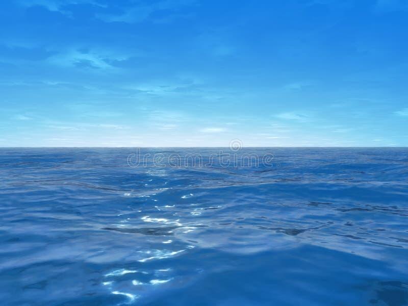 Oceano largo ilustração royalty free