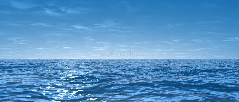 Oceano largo ilustração do vetor