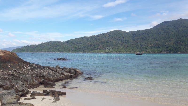 Oceano no lipe Tailândia do Koh foto de stock