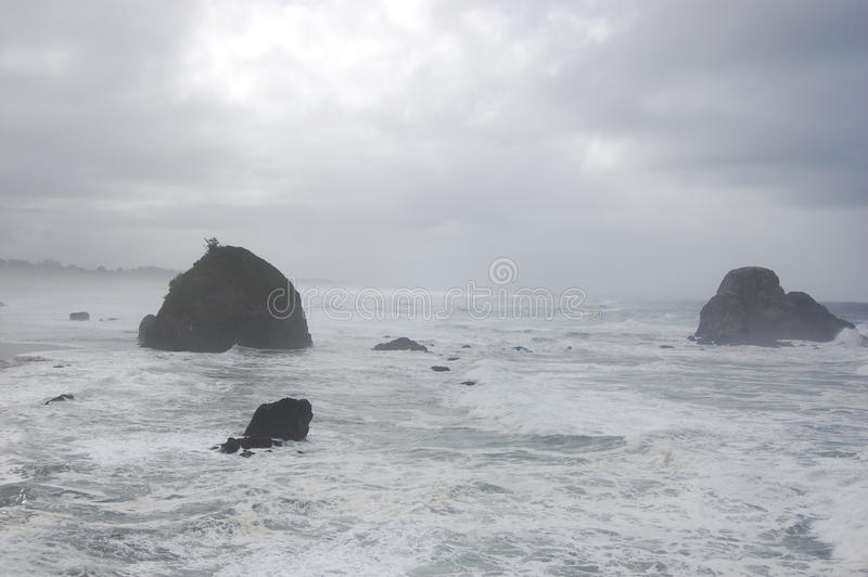 Oceano nuvoloso fotografia stock libera da diritti