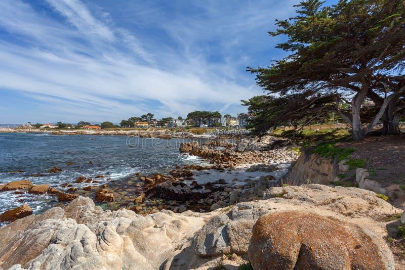 Oceano Pacífico - Monterey, Califórnia, EUA fotografia de stock royalty free