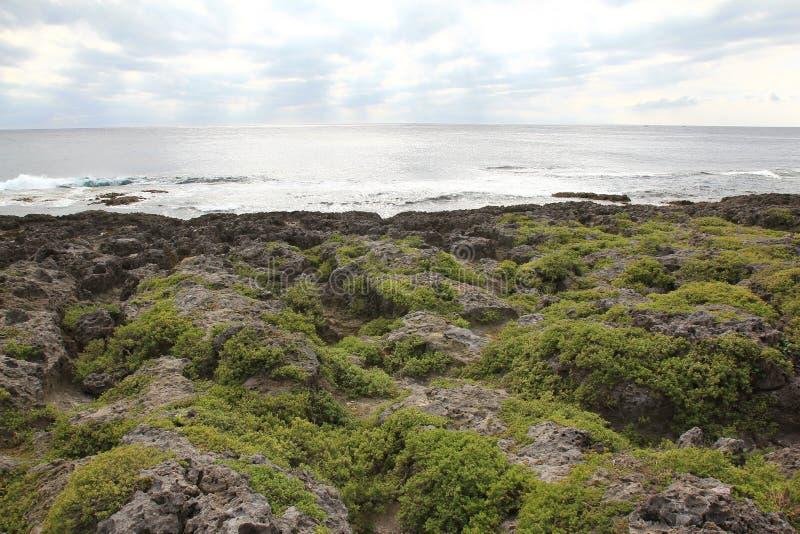 Oceano Pacífico nebuloso imagens de stock royalty free