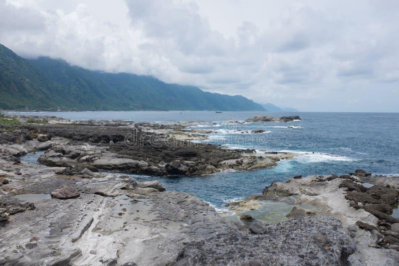 Oceano Pacífico Shihtiping, Taiwan imagem de stock