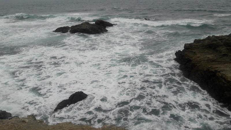Oceano Pacifico dall'Ecuador immagini stock