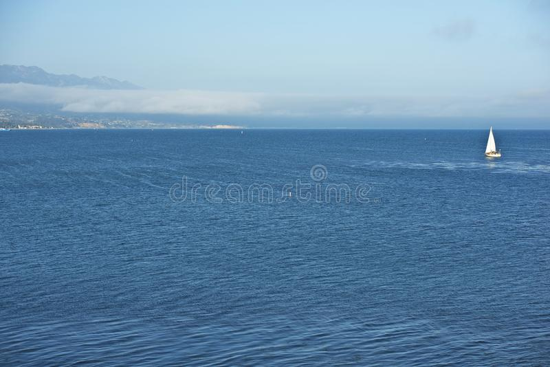 Oceano Pacifico Santa Barbara fotografie stock