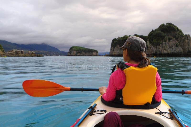 Oceano que kayaking foto de stock royalty free