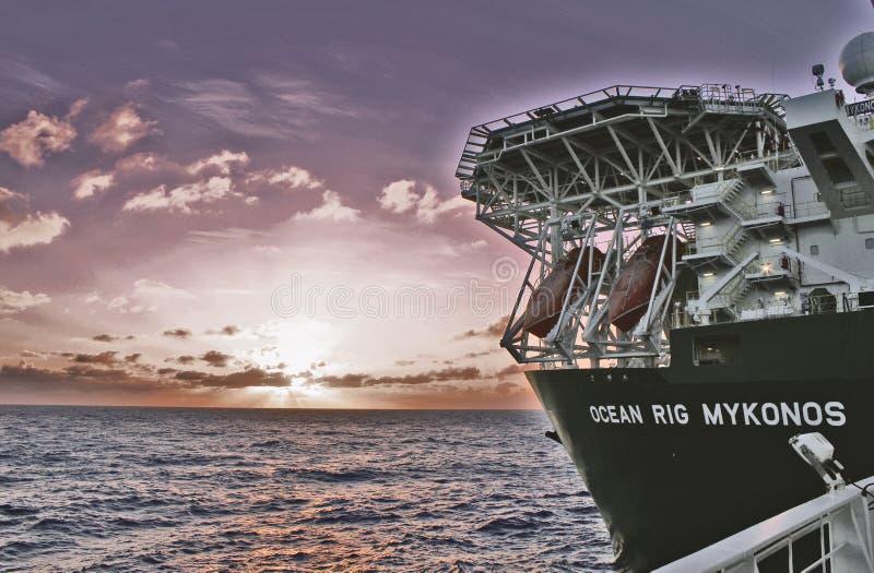 Oceano Rig Mykonos foto de stock