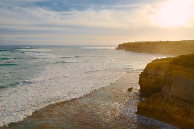 Oceano Rocky Shoreline fotografia de stock
