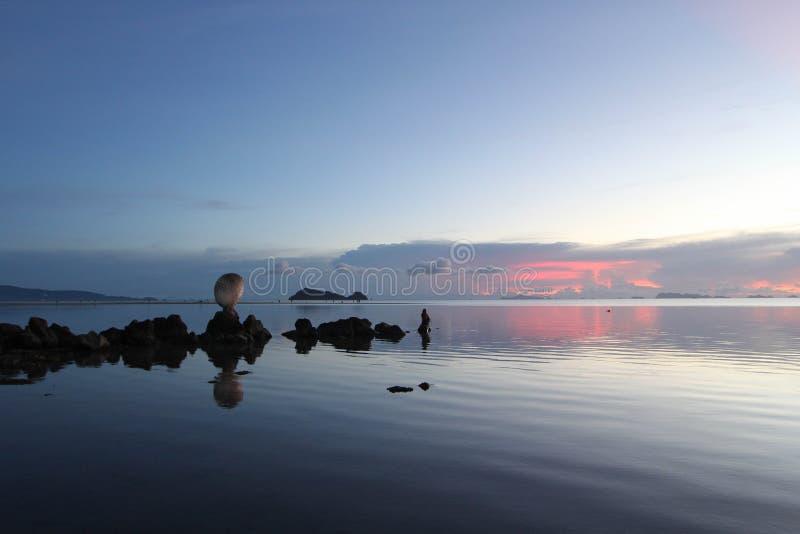 Oceano silenzioso fotografia stock libera da diritti
