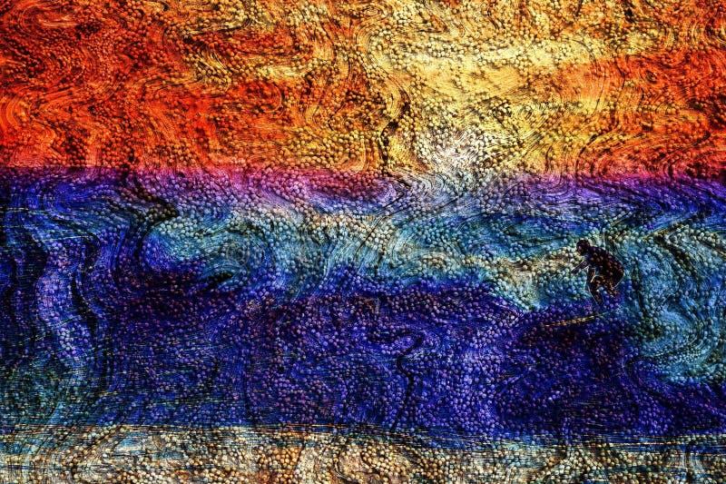 Oceano strutturato e fondo praticante il surfing fotografie stock libere da diritti