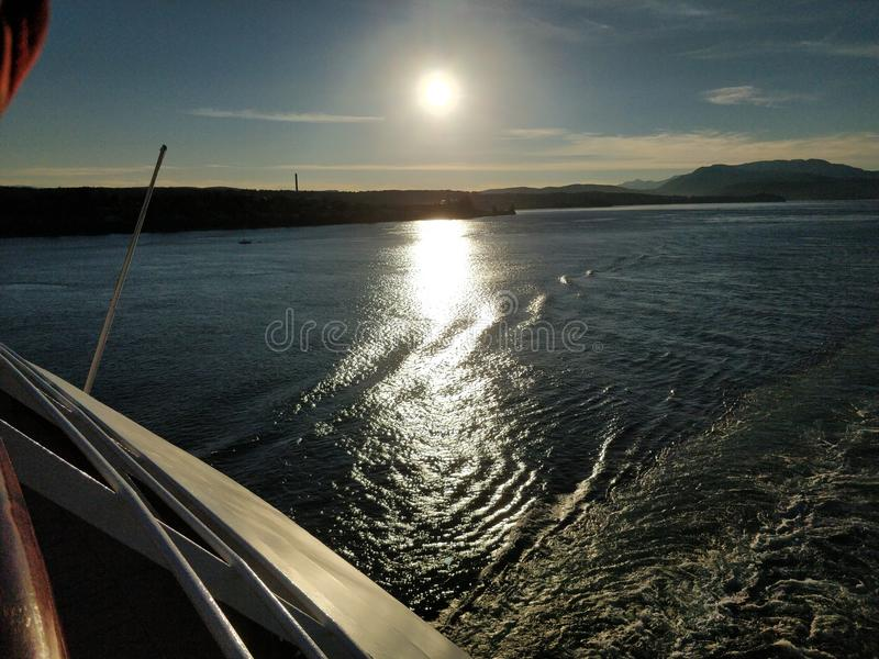 Oceano Sun fotografia de stock royalty free