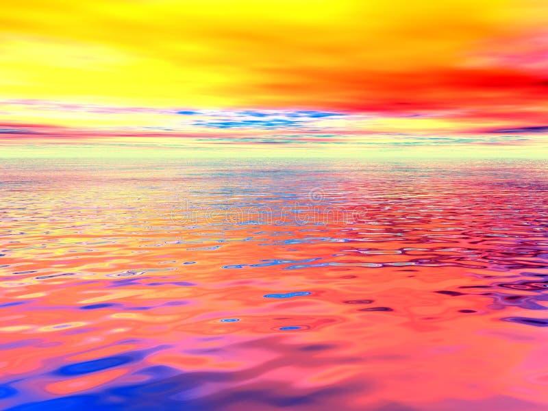 Oceano surreal ilustração do vetor
