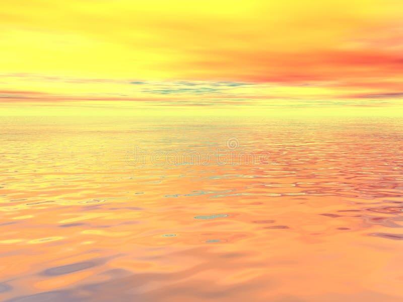 Oceano surreal ilustração stock
