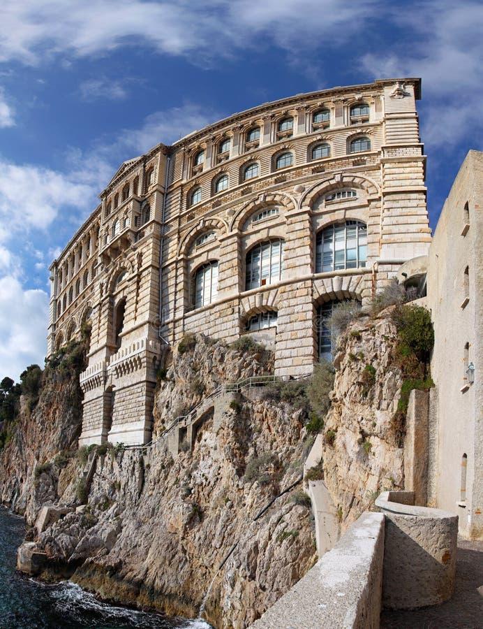 Oceanographic Institute Monaco. Famous building of Oceanographic Institute in Monaco stock photo