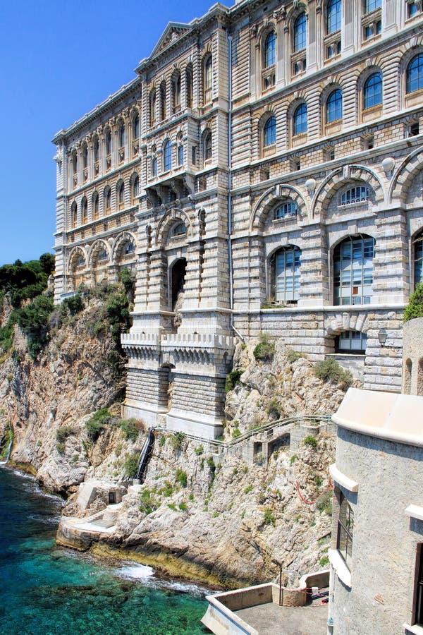 oceanographic monaco museum royaltyfria bilder