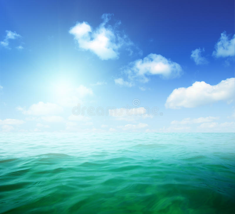 Oceans water and fog royalty free stock photo