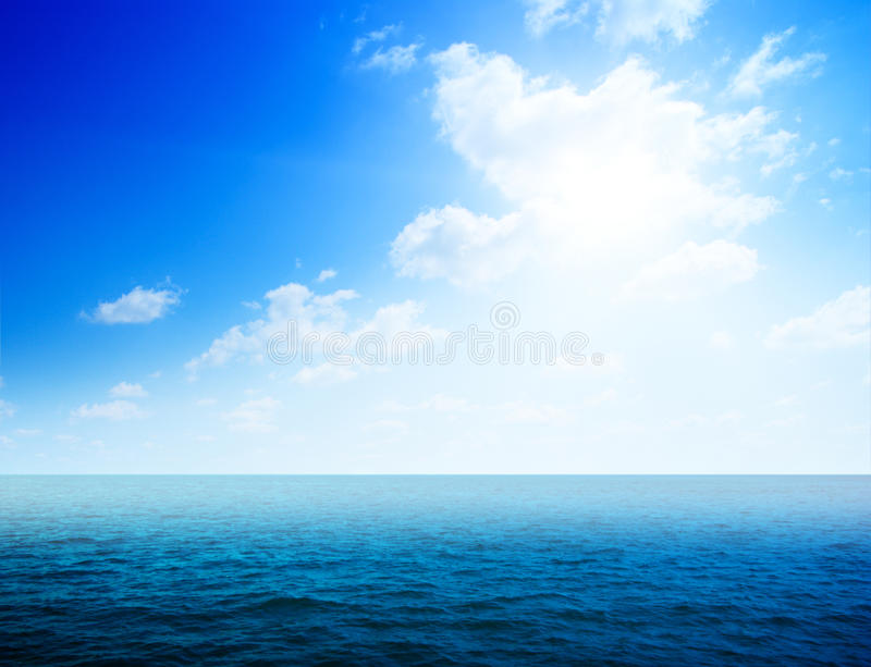 Oceans water and fog royalty free stock images