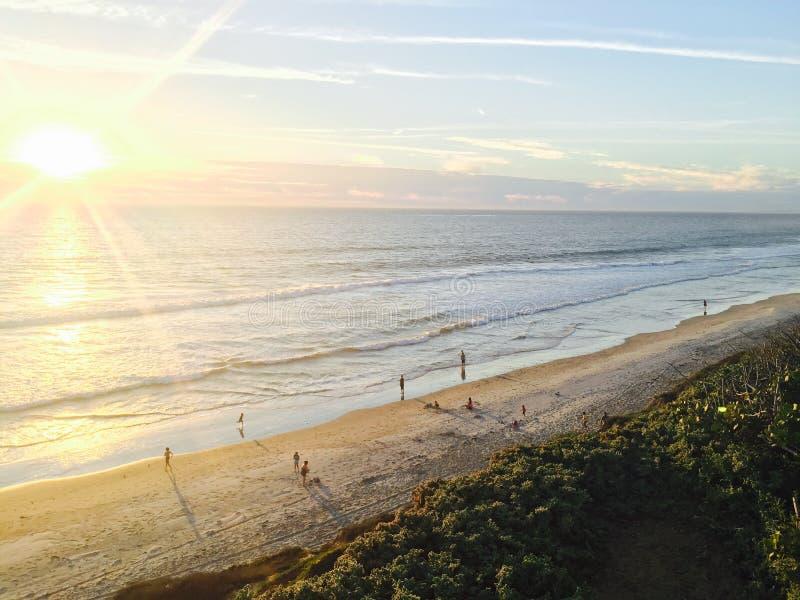 Oceanside au coucher du soleil, Carlsbad, la Californie Etats-Unis photo libre de droits