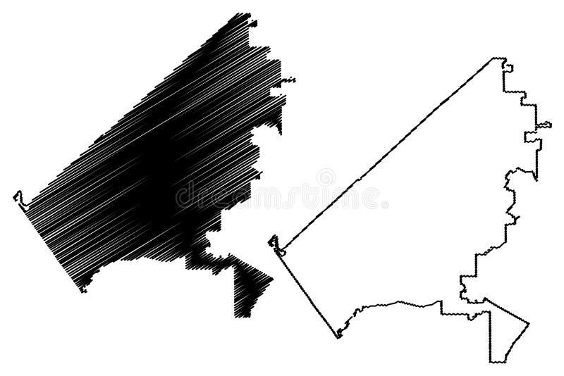 Oceanside City Stany Zjednoczone, Stany Zjednoczone Ameryki, mapa miasta USA wektor ilustracji, szkic bajeczny City of ilustracji