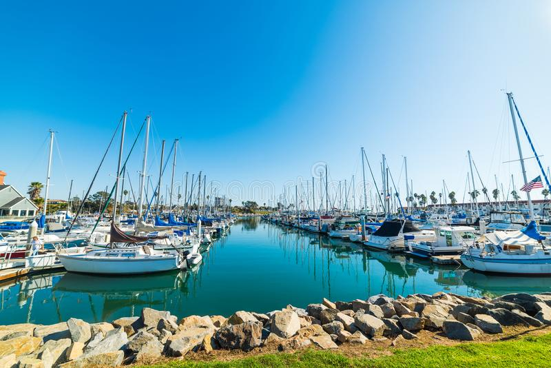 Oceanside harbor on a clear day. California stock image