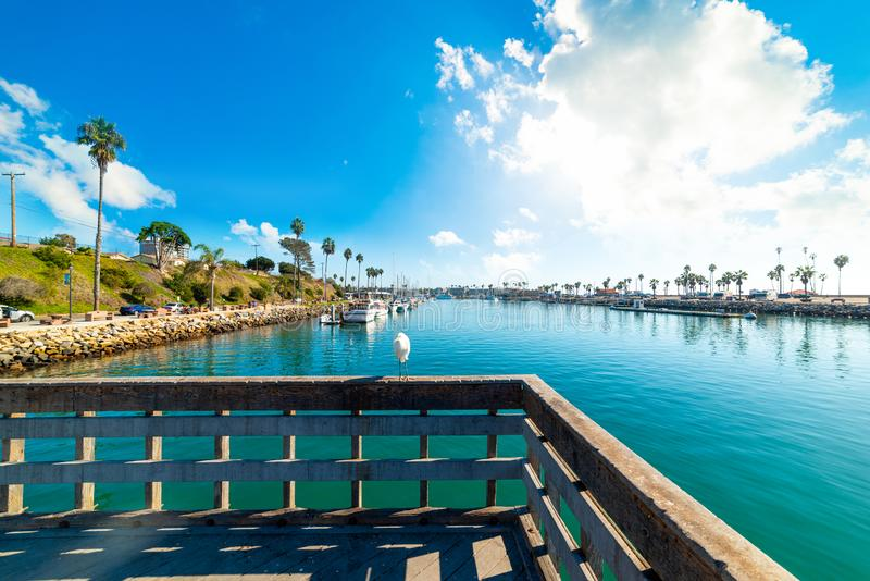 Oceanside harbor on a cloudy day. Southern California, USA stock photography