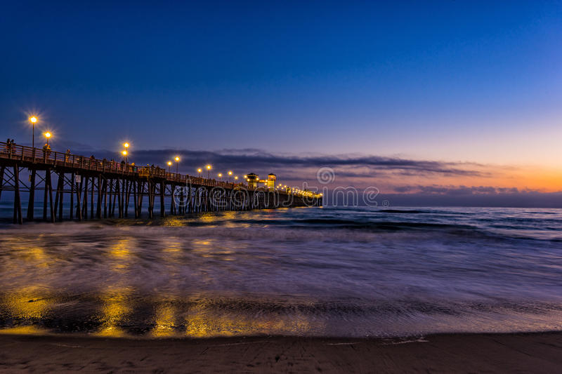 Oceanside Pier Sunset stock afbeeldingen