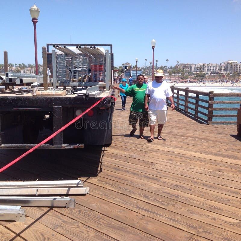 Oceanside pier 2 royalty free stock photos