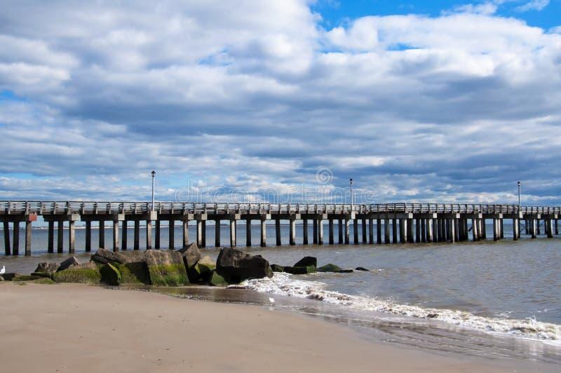 Oceansideboardwalk arkivbilder