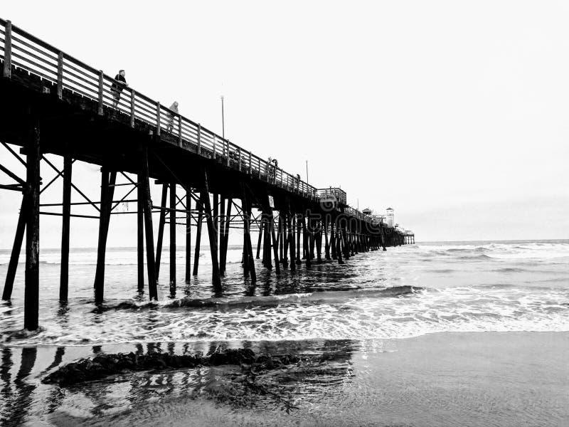 Oceansidepijler royalty-vrije stock foto's