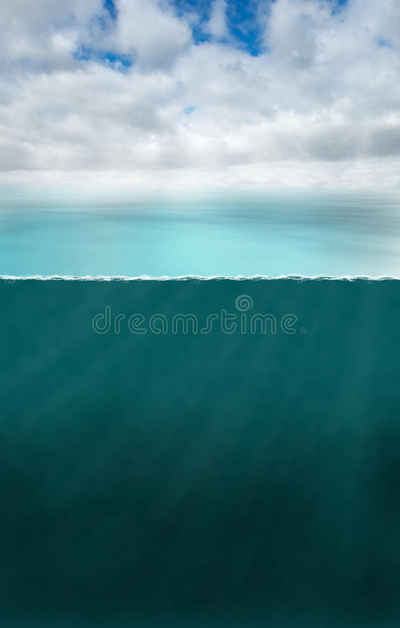 Oceanu Denny Nautyczny Podwodny tło fotografia royalty free