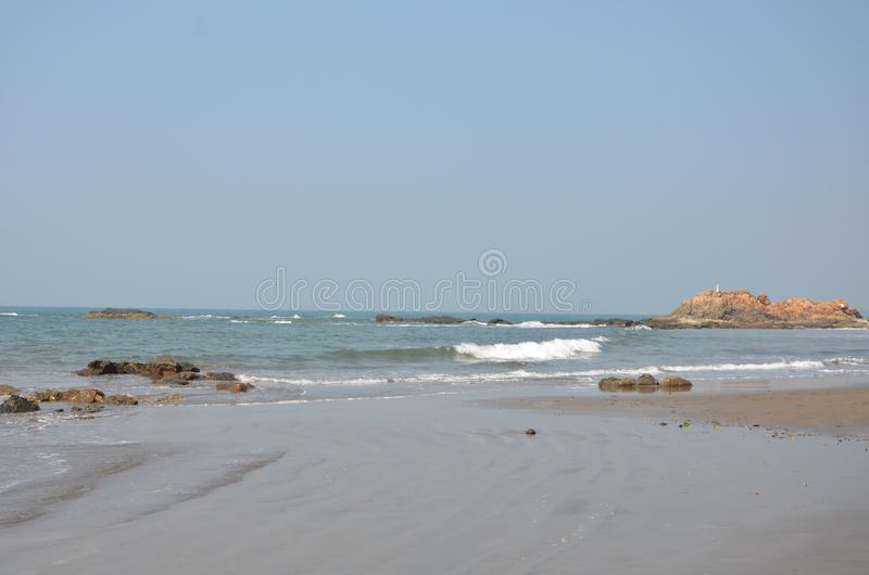 Oceanu Indyjskiego wybrze?e zdjęcie stock