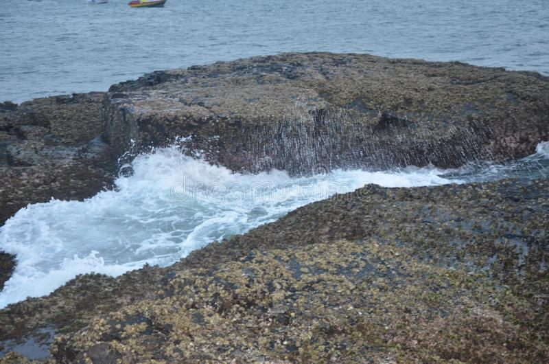 Oceanu Indyjskiego wybrze?e fotografia stock