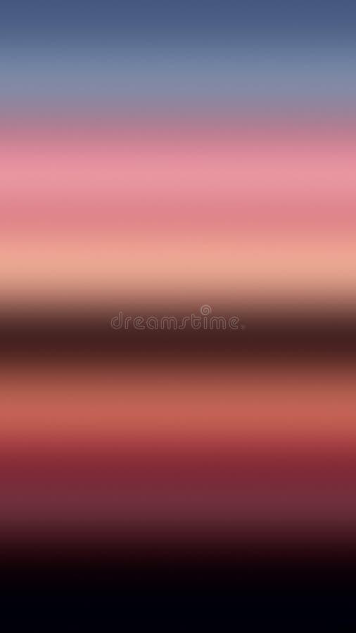 Oceanu lub morza tła nieba horyzont na rzece, gradientowy odbicie royalty ilustracja