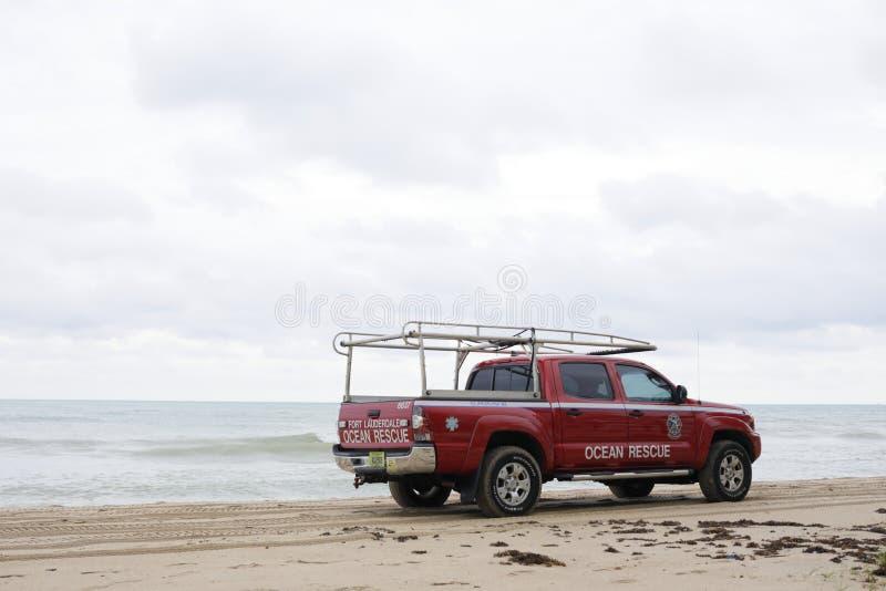 Oceanu ratuneku ciężarówka na fort lauderdale FL obrazy stock