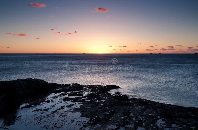 Oceanu wschód słońca Wollongong