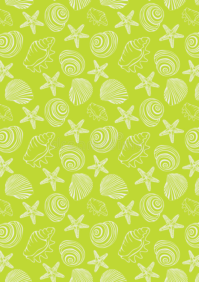 Oceanu wzór w neonowym zielonym tle fotografia stock