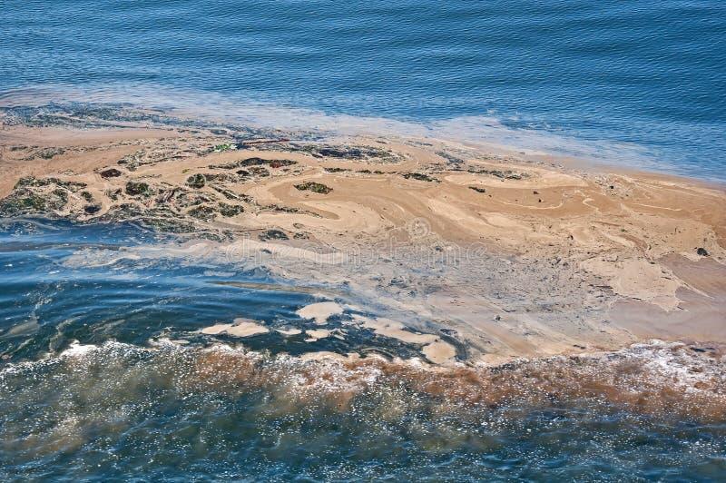 oceanu zanieczyszczenia kilwateru woda obrazy stock