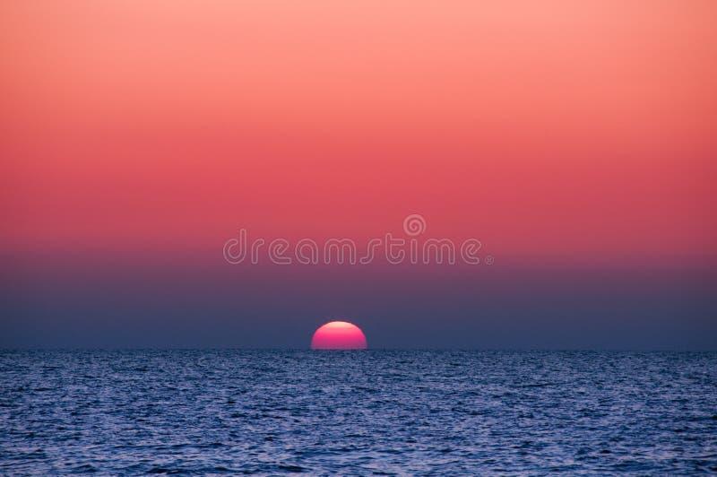 oceanu zmierzch obraz royalty free