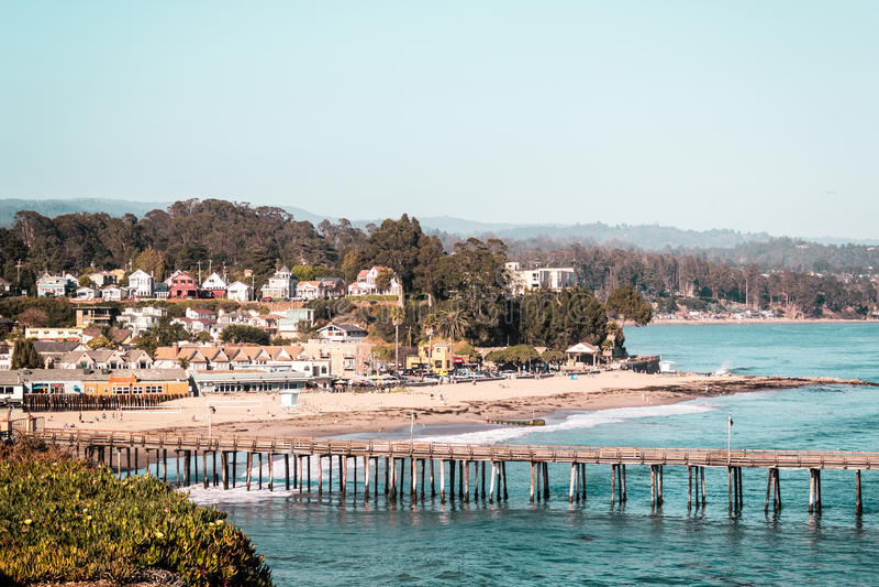 Oceanview από την ακτή Καλιφόρνιας, Ηνωμένες Πολιτείες στοκ εικόνα