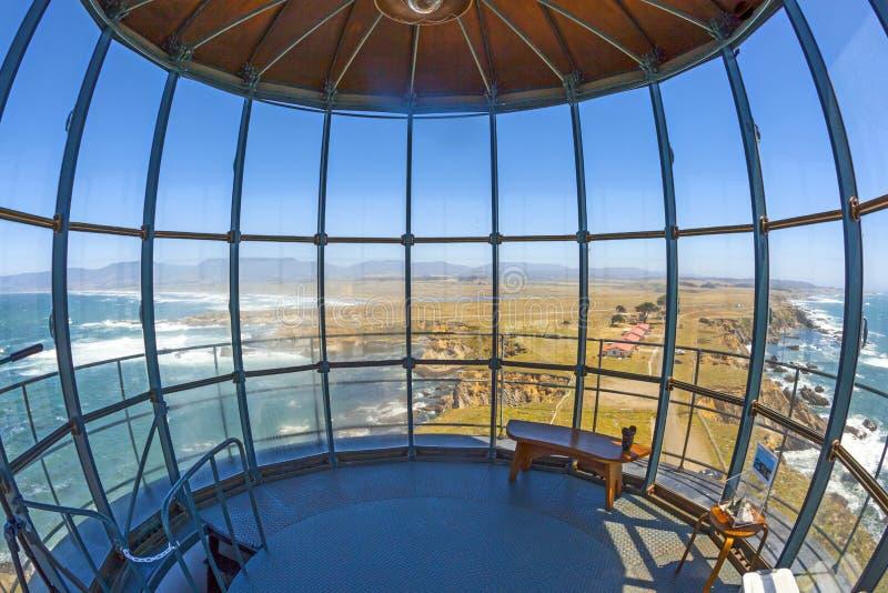 Oceanview от маяка арены пункта в Калифорнии стоковые изображения