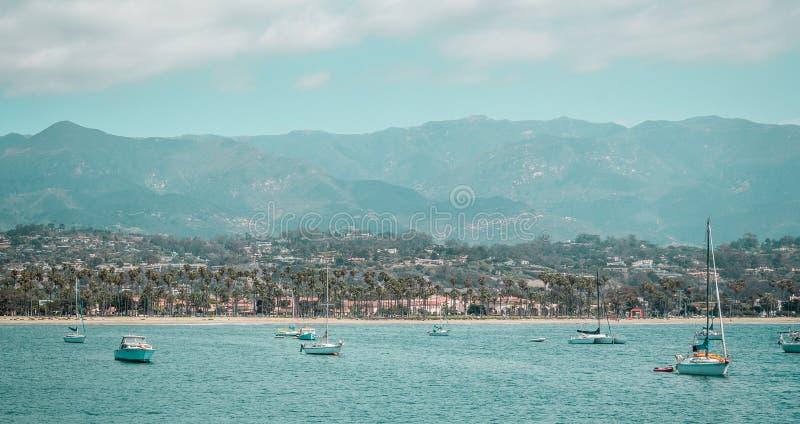 Oceanview dalla costa di California, Stati Uniti immagine stock libera da diritti