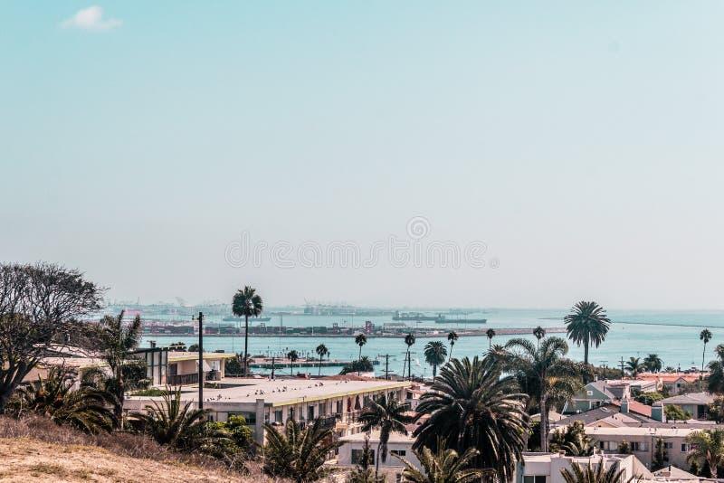 Oceanview dalla costa di California, Stati Uniti immagine stock