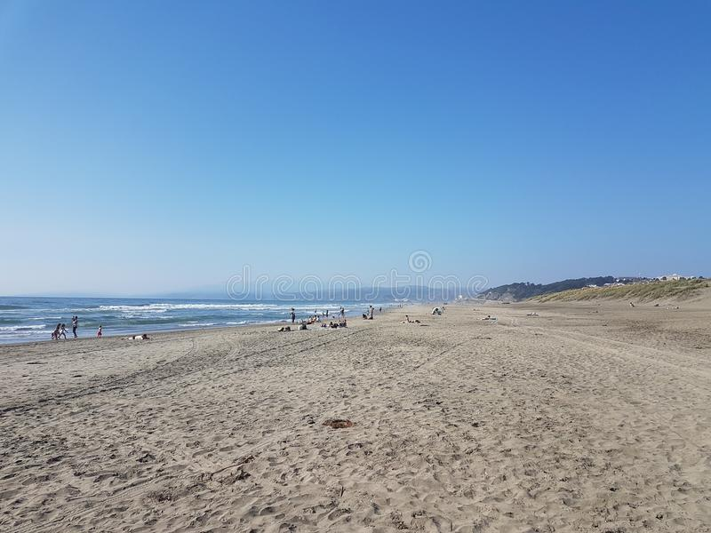 Oceany wyrzucać na brzeg San Francisco obraz royalty free