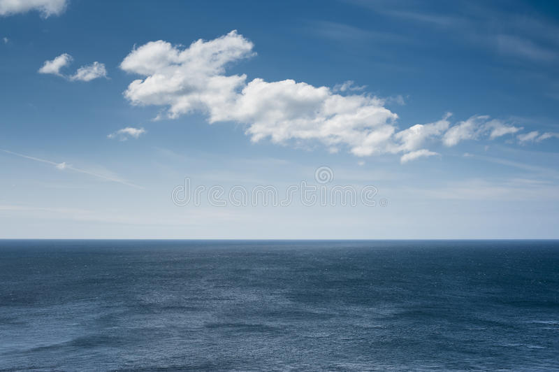 Ocena Horizon With Clouds Royalty Free Stock Photo