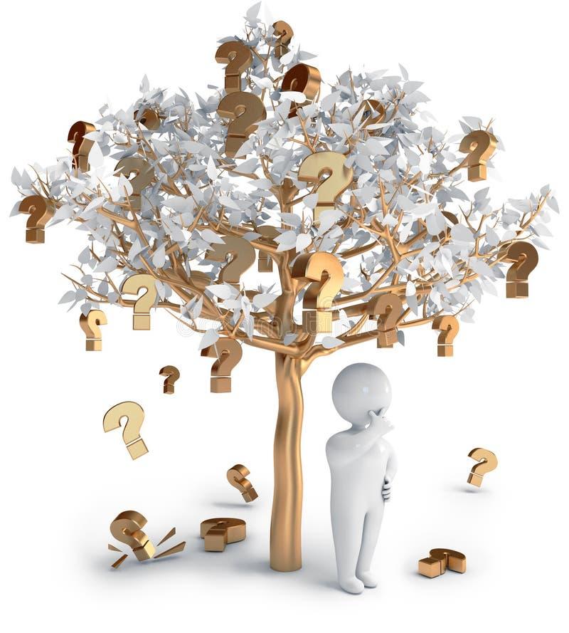 oceny ludzie pytanie drzewo ilustracji